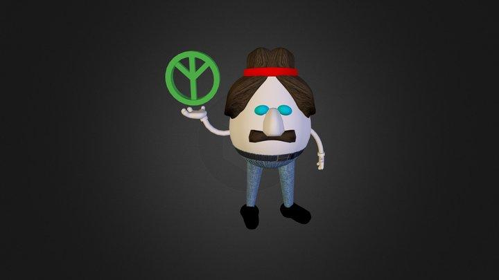 Peace Egg 3D Model