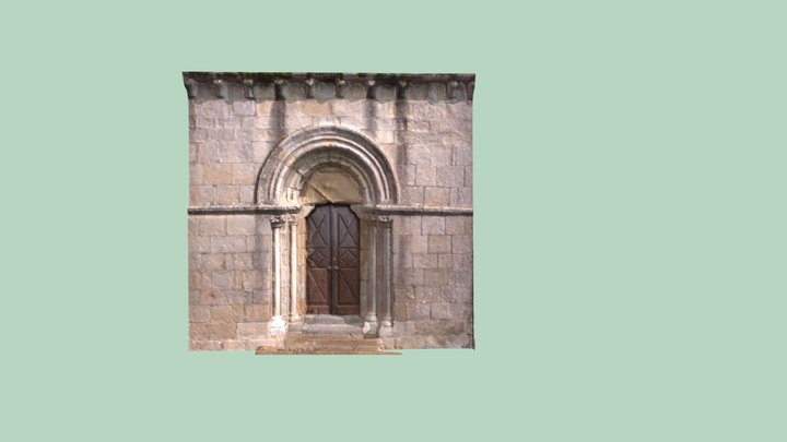 Portada iglesia San Martiño. 3D Model