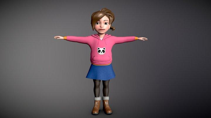 """""""Little Girl"""" 3D Model"""