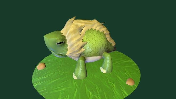 Monster Turtle-Lezard 3D Model