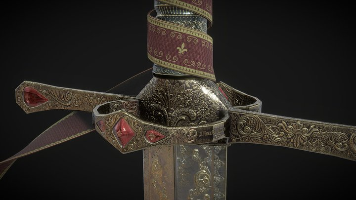 Zweihänder Sword 3D Model