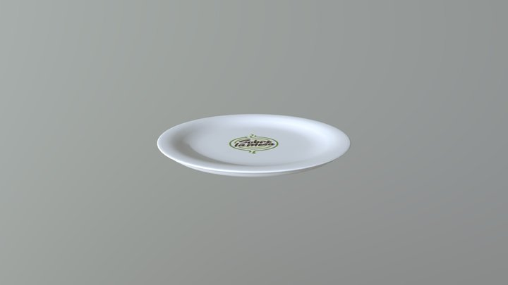 Kitchen Plate OBJ 3D Model