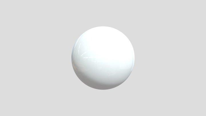 White Ball 3D Model
