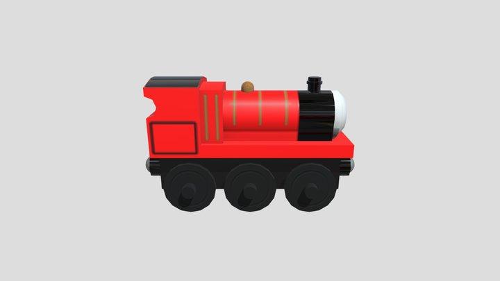 Wooden Train - James 3D Model