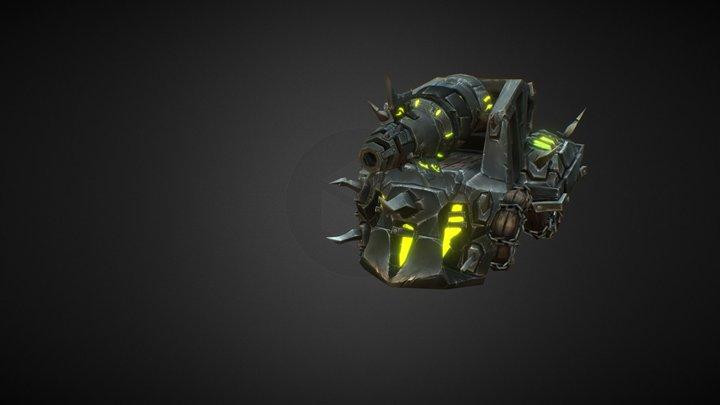 Fel Iron Horde Lightning Cannon Tank - Animated 3D Model