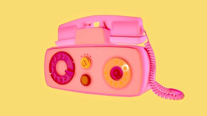 Pink Telephone 3D Model
