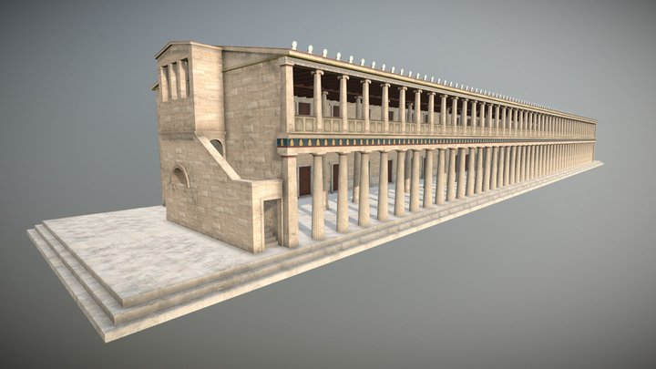 Stoa of Attalos 3D Model