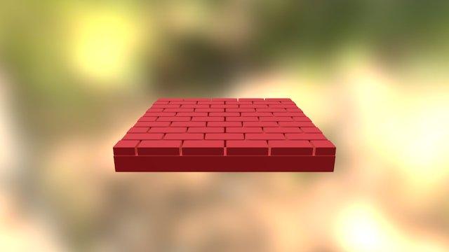 Brick Walkway 3D Model