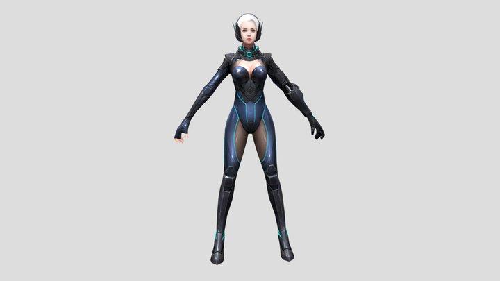 Saibo Super Girl 3D Model