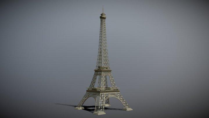 Eiffel Tower in Paris France 3D Model