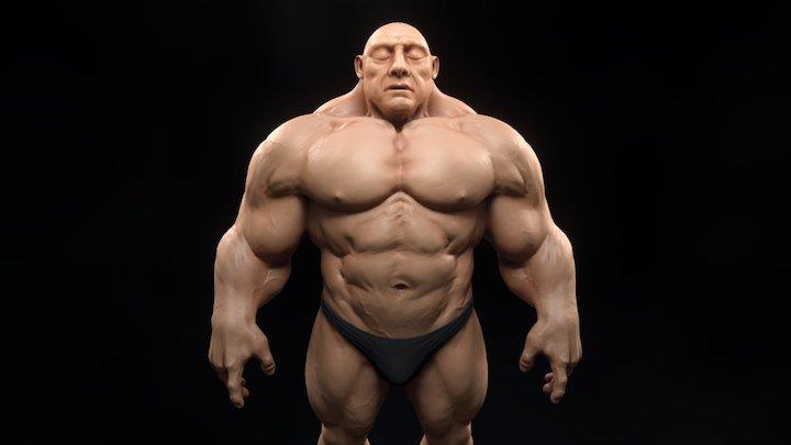 Super Human 3D Model