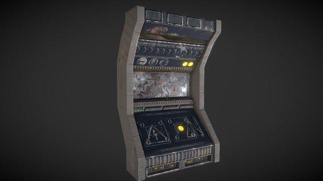 SciFi Corridor Panel 3D Model