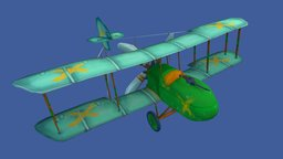 Ban-7 'The Undying' - Stylised Airplane 3D Model