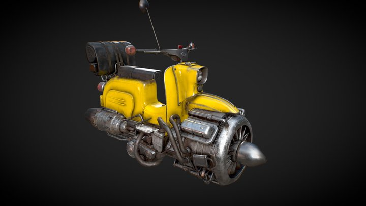 Simson Shwalbe Hoverbike 3D Model