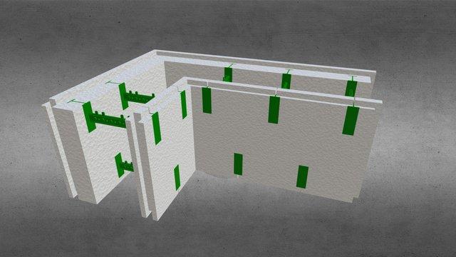 Угловой разборной термоблок 100+50 3D Model