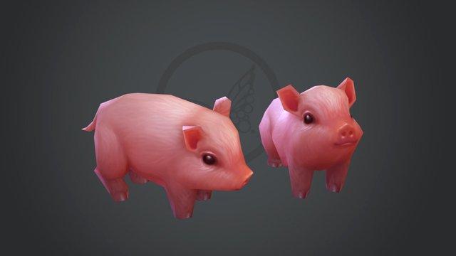 Piglets 3D Model