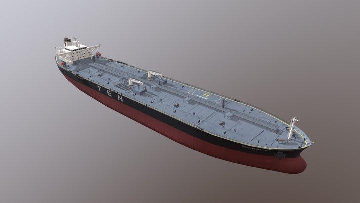 Tanker Ship: Spyros K 3D Model