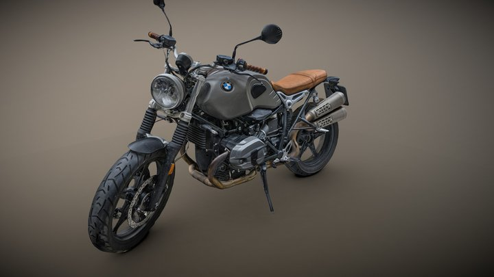 BMW R nineT motorbike raw photogrammetry scan 3D Model