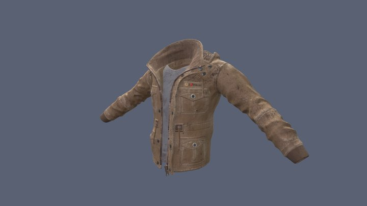 Heavy Worn Jacket 3D Model