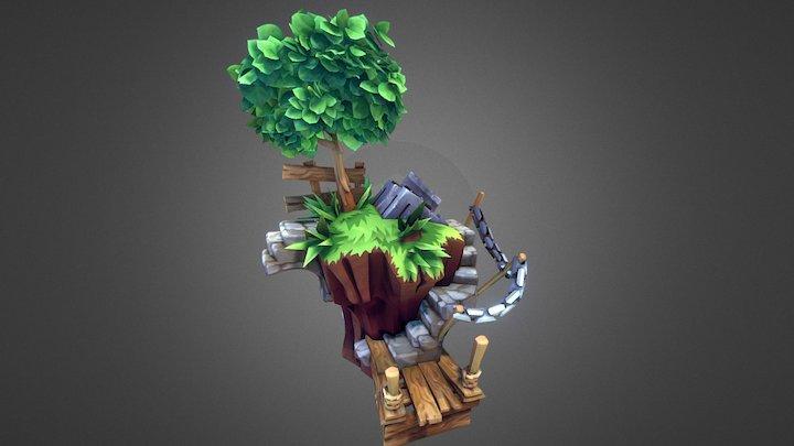 Flying Island 001 3D Model