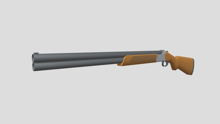 Browning Citori 725 Low Poly 3D Model