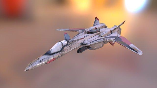 Spaceship macross yf-19 3D Model