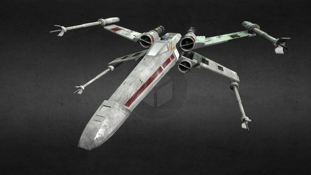 X-Wing - by Greta Pastorino 3D Model