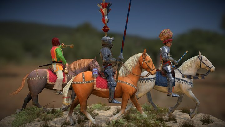 Italian Condottiere (Bracceschi) 3D Model