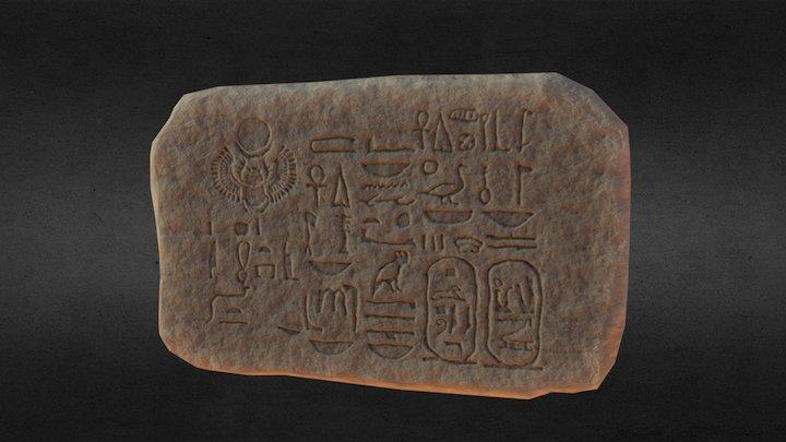 Egyptian Hieroglyphics Stone _ 3Daily 2017 3D Model