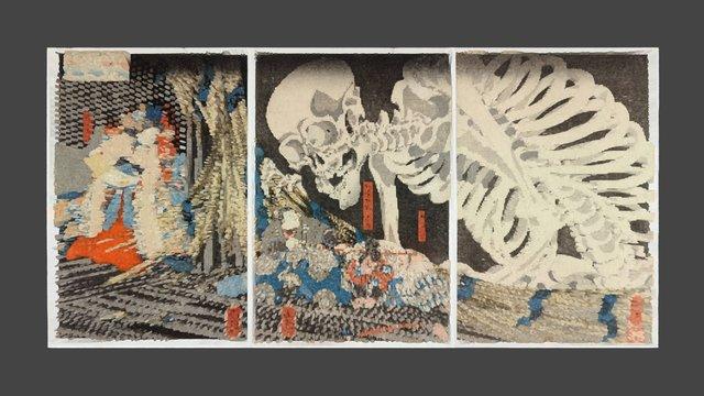 Takiyasha the Witch and the Skeleton Spectre 3D Model