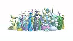 Alien Toon Plants 3D Model