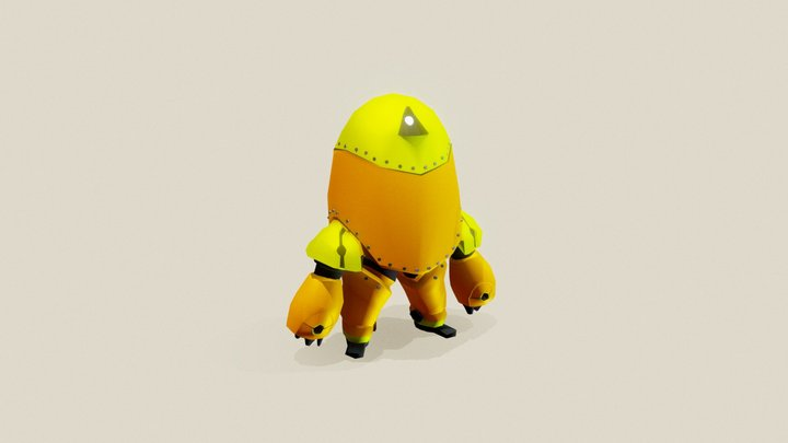 Robot: the one with bolts, oranges and greens 3D Model