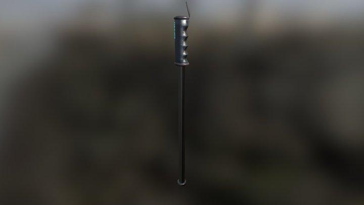 HorkidUI Custom Ski Pole Concept 3D Model