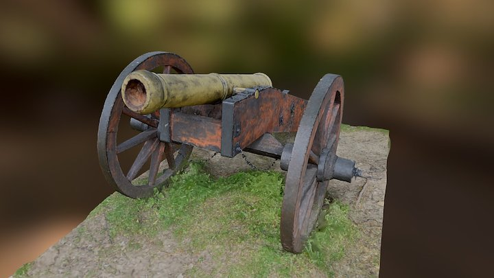 First attempt Cannon 3D Model