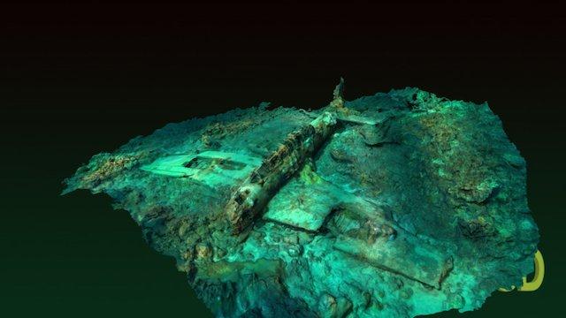 "Underwater: Nakajima B6N ""Jill"" Bomber 3D Model"