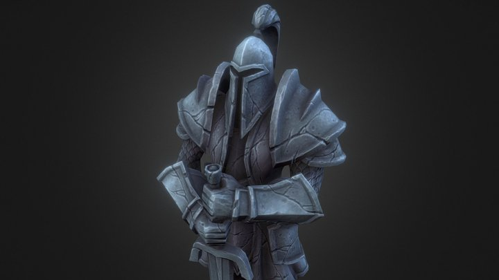 Warcraft Alliance Statue 3D Model