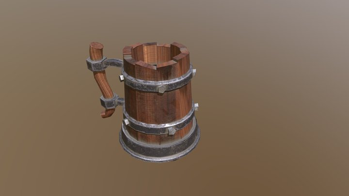 Stylized Mug 3D Model