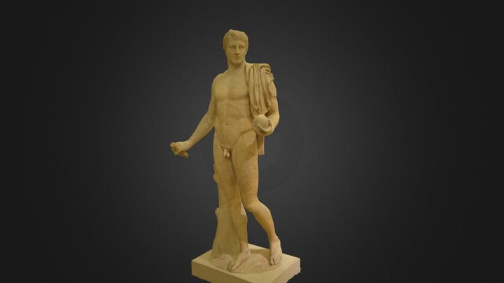 The Male Nude - Low Poly 3D Model