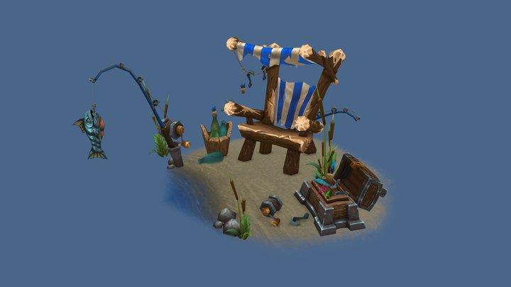 Gone Fishin' 3D Model