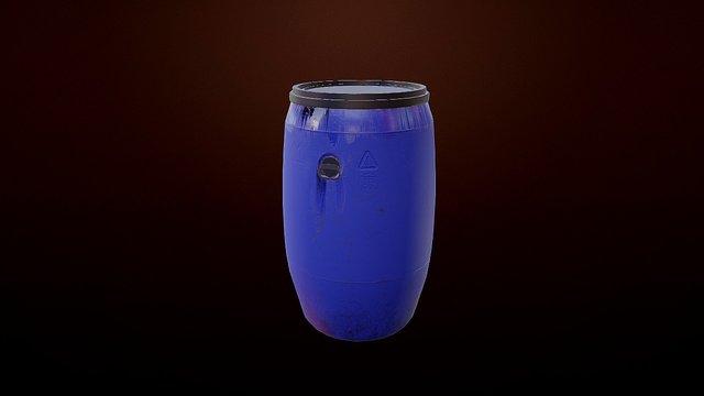 Material - Plastic Barrel 3D Model