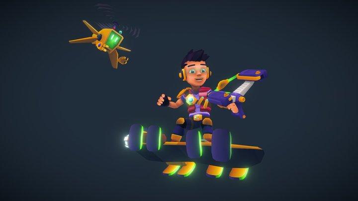 Candy Patrol: Marvin and DR-ONE 3D Model