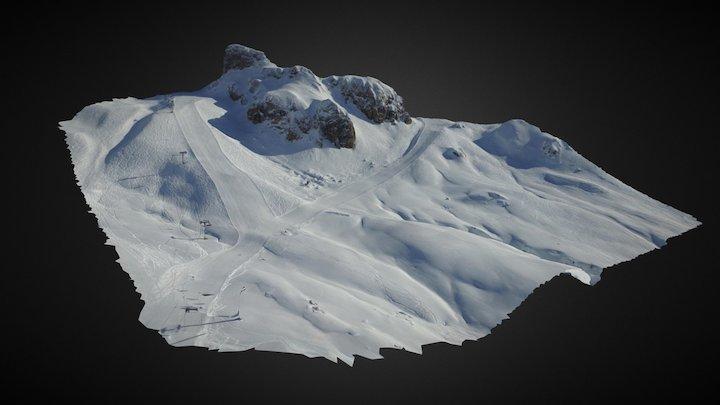 Skigebiet 3D Model