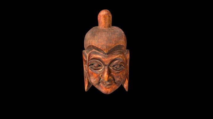 Buddha Face Mask 3D Model