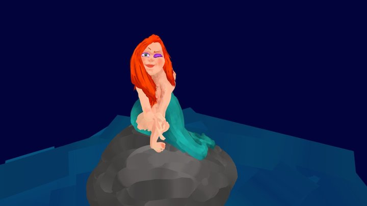 Quillustration : The Mermaid (with TimeLapse) 3D Model
