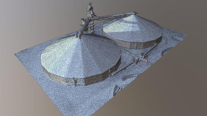 DIWA Grain Silo Roof Beam Structure Survey 3D Model