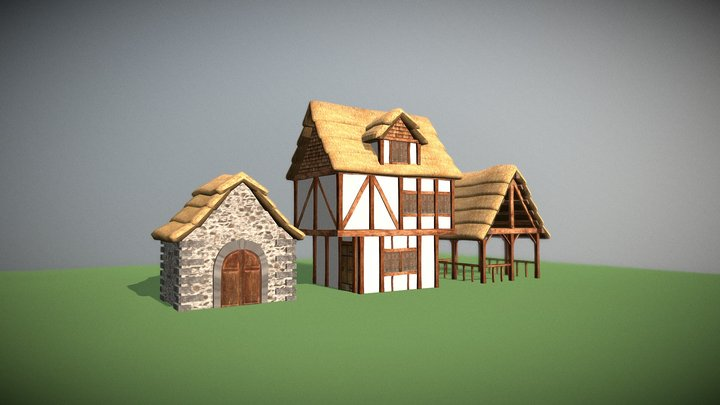 Medieval Structures-WIP 3D Model