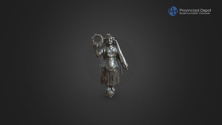 Beeld godin Victoria, Romeinse tijd, 3de eeuw 3D Model