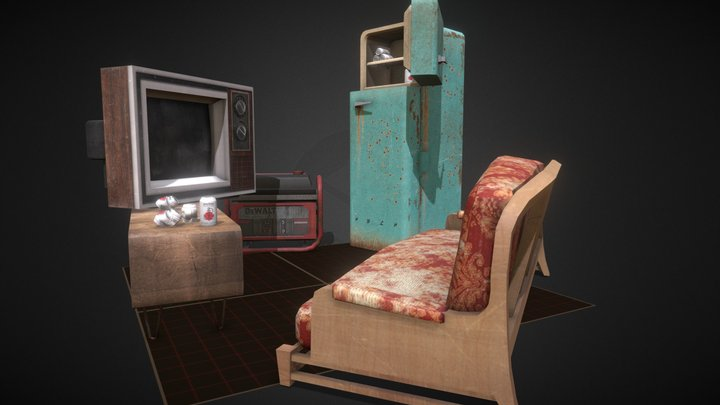 """DAE 5 Props Assignment """"Forest Loner"""" 3D Model"""
