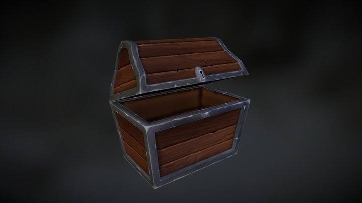 Hand Painted Chest 3D Model