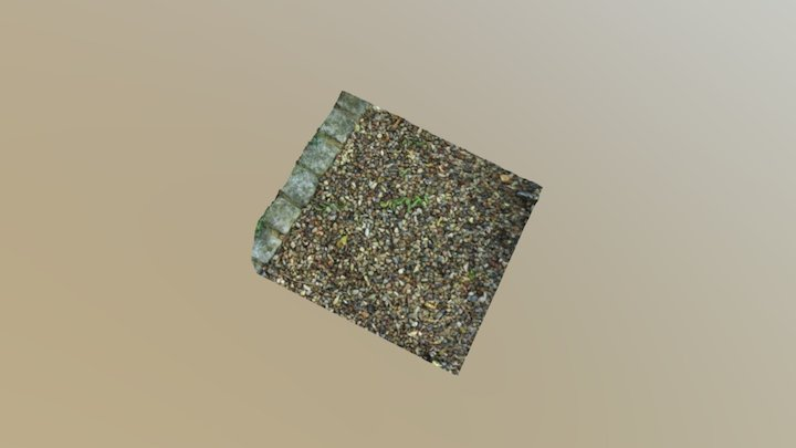 Ground with Gravel and Stones 3D Model